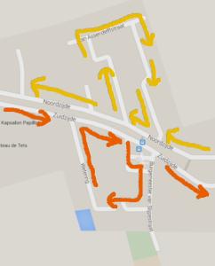Route bouw Goudriaan Feestweek 2015